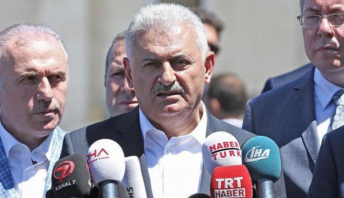 Başbakan Yıldırım şehitler için Erzurum'da