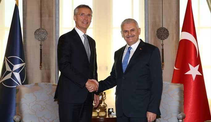Başbakan Yıldırım'ın Stoltenberg ile görüştü