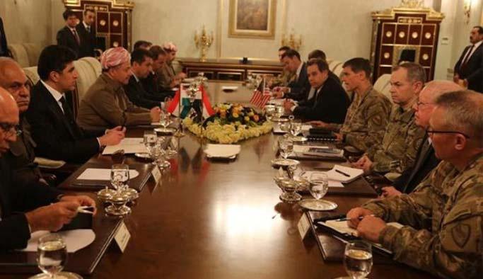 CENTCOM Komutanı Barzani ile bir araya geldi