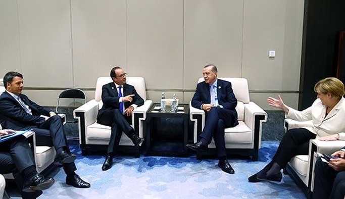 Çin'de Erdoğan-Merkel-Hollande-Renzi zirvesi