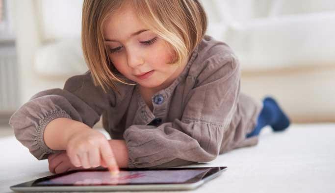 Çocuklar tabletlere emanet