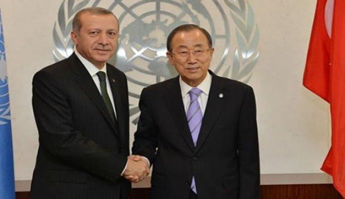 Erdoğan, Çin'de Ban Ki-mun ile görüştü