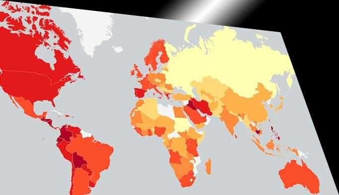 Dünyanın 'duygusallık' haritası çıkarıldı
