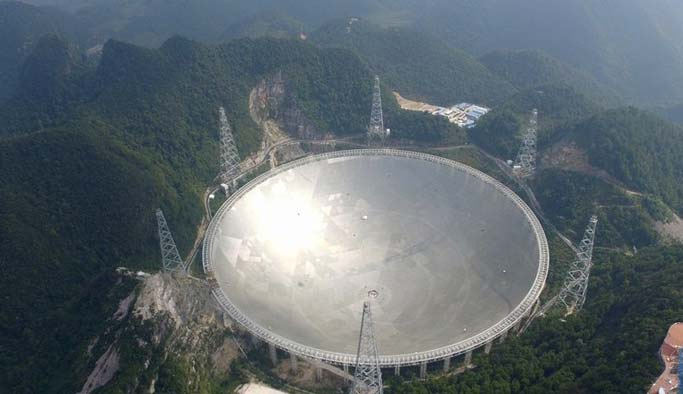 Dünyanın en büyük 'teleskobu' açıldı