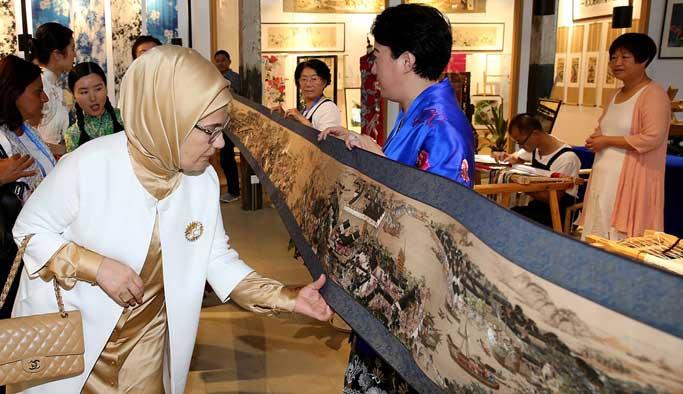 Emine Erdoğan, Çin'de tarihi yerleri gezdi