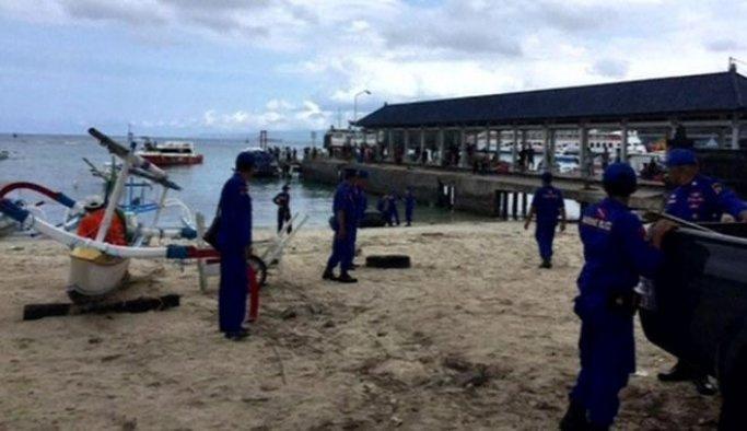 Endonezya'da teknede patlama meydana geldi