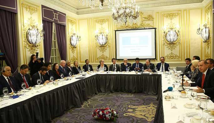 Erdoğan ABD'de düşünce kuruluşlarıyla buluştu