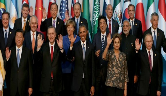 Erdoğan G20'de bazı oturumlara katıldı