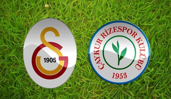 Galatasaray, Çaykur Rizespor maç hazırlıkları