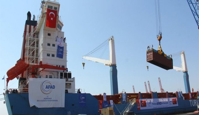 Gazze'ye yardım götüren 2. gemi Aşdod limanına ulaştı