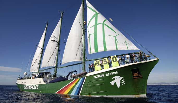 "Greenpeace simgesi ""Rainbow Warrior"" Bodrum'da"