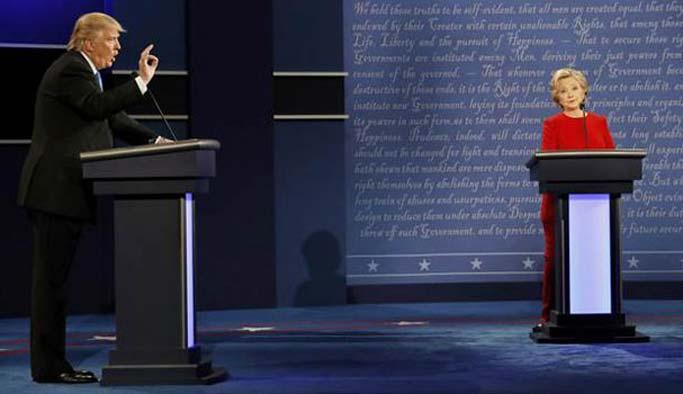 İlk münazaranın kazananı Clinton oldu