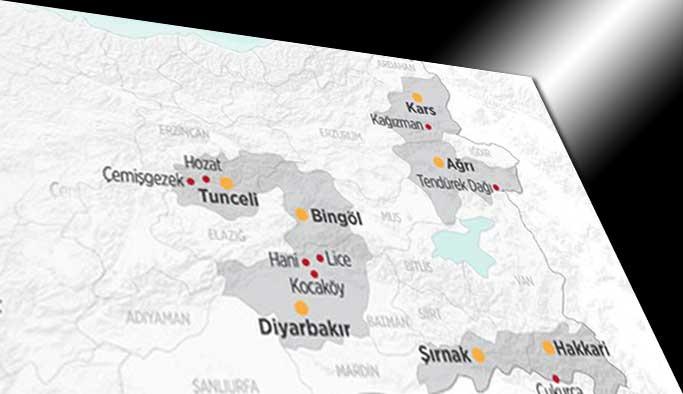 İşte PKK'nın yurt içindeki 'Kandilcik'leri - GRAFİKLİ