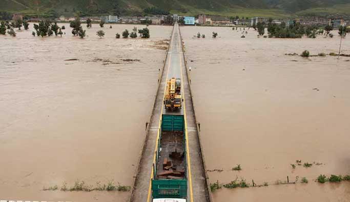 Kuzey Kore'de aşırı yağışlar 133 can aldı