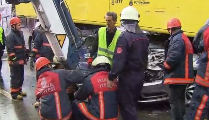 Metrobüs kazasına neden olan yolcu gözaltında