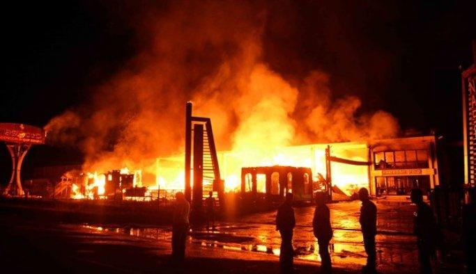 Muğla'da fabrika yangını