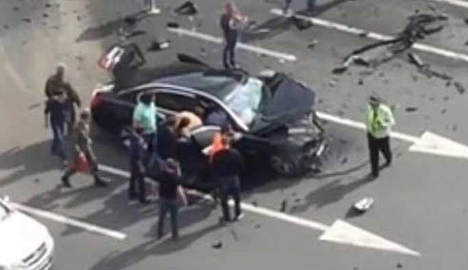 Putin'in makam aracı kazada parçalandı