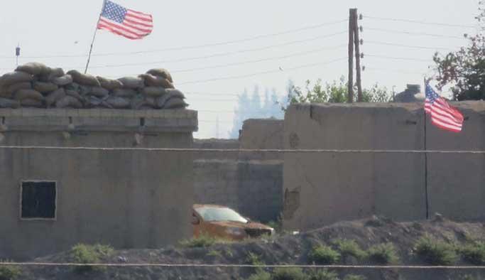 PYD karargahlarına ABD bayrağı astı
