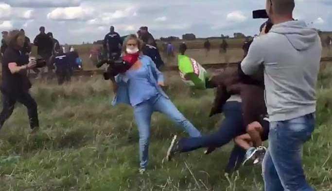 Sığınmacıyı tekmeleyen gazeteci yargılanacak
