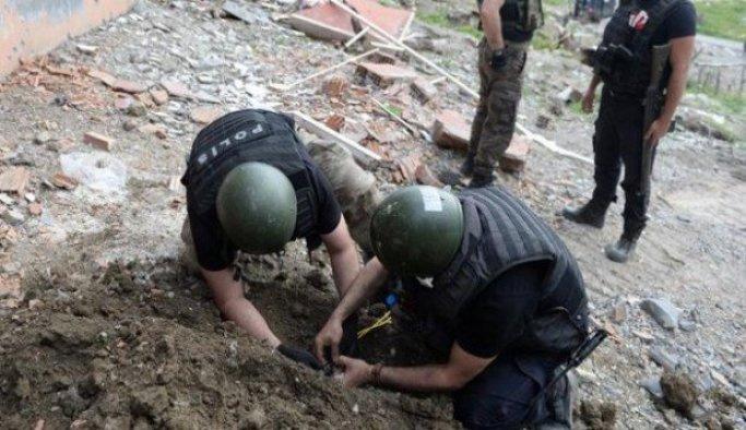 Şırnak'ta bulunan el yapımı patlayıcı imha edildi