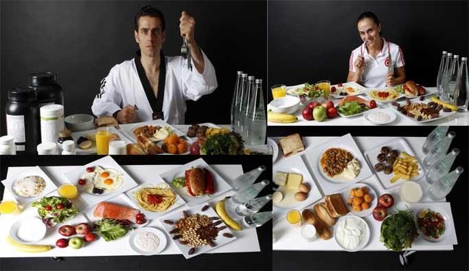 Sporcuların günlük diyeti