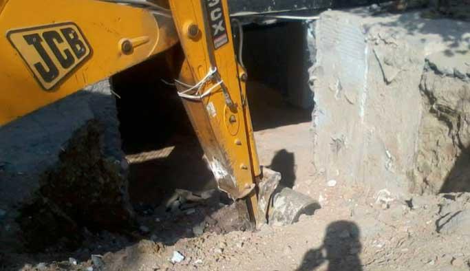 Tabancaların bulunduğu arazide kazı başladı