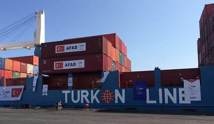 Türkiye'den gönderilen yardımlar Gazze'de