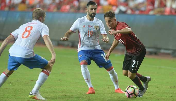 Türkiye-Rusya maçında dostluk kazandı