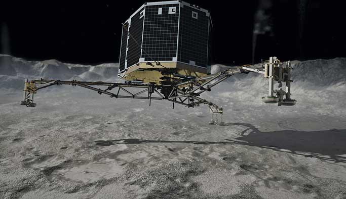 Uzayda kaybolan Philae'den haber var