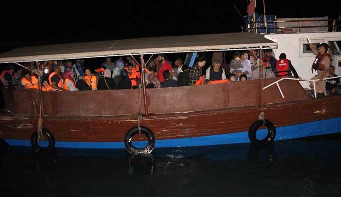 20 kişilik teknede 100 Suriyeli