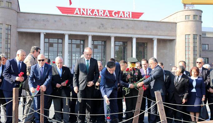 Ankara Garı'nda anma töreni