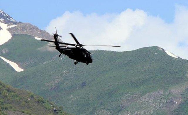 Bir ton bomba yüklü araç helikopterle vuruldu