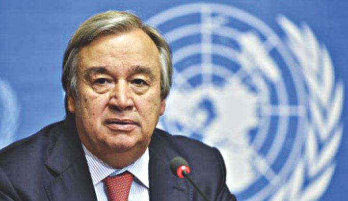 Çavuşoğlu'dan Guterres'e tebrik telefonu