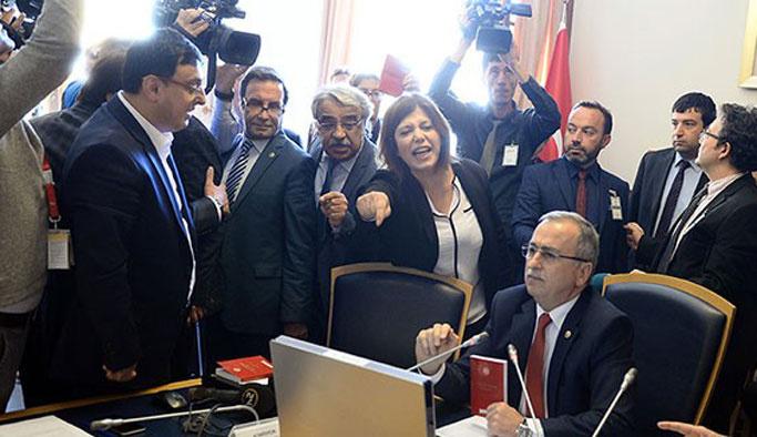 Darbe komisyonunda HDP provokasyonu