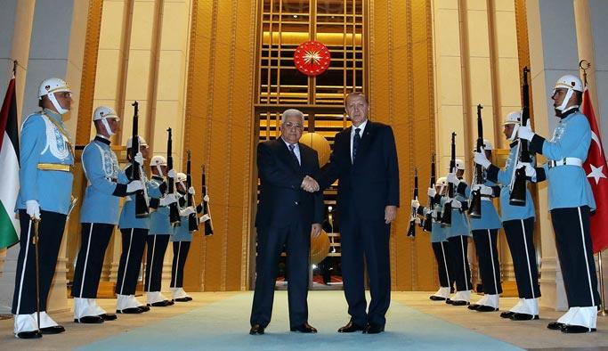 Erdoğan, Abbas'ı Beştepe'de kabul etti