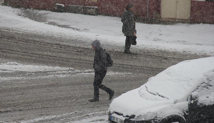 Erzurum ve Kars'a kar yağdı