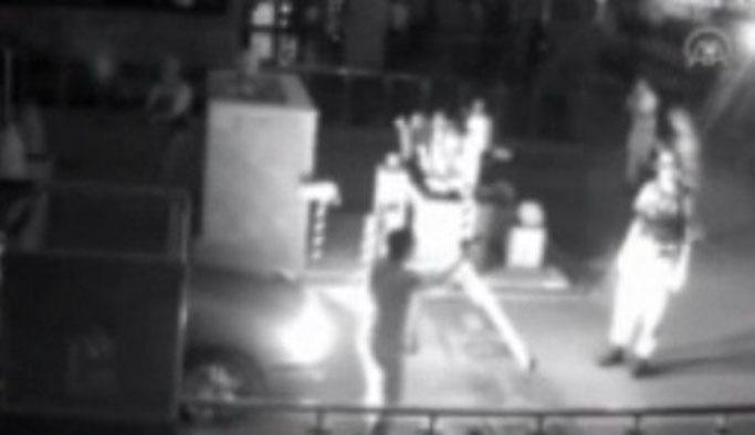 Darbecilerin komutanı kaçırma anı kamerada VIDEO