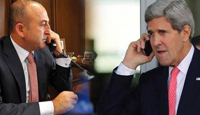 Kerry, Dışişleri Bakanı Çavuşoğlu'nu telefonla aradı