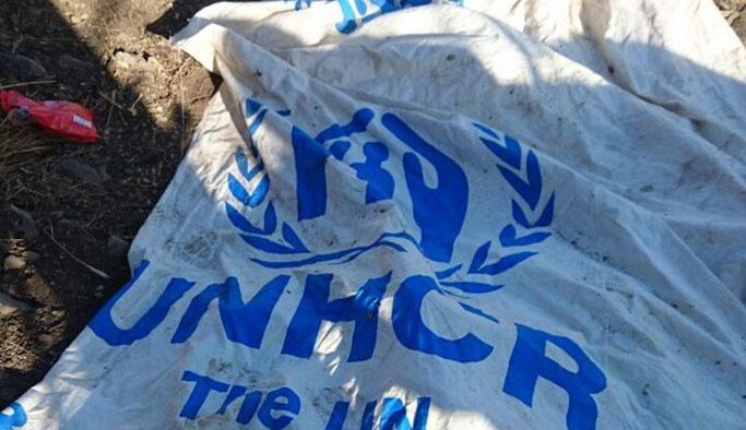 PKK mağarasında BM malzemeleri