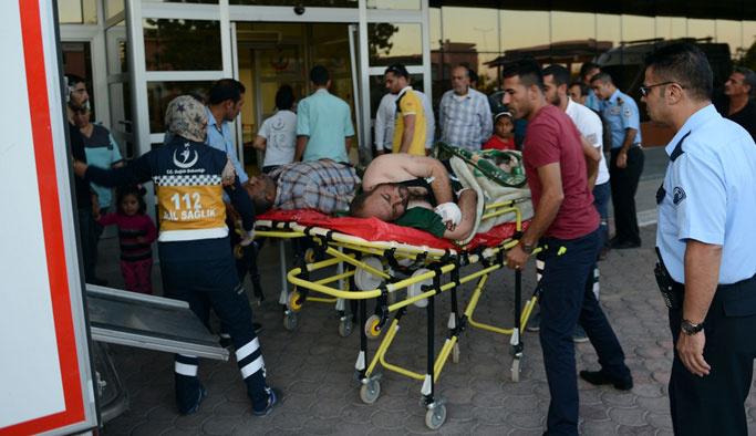 Suriye'de yaralanan 14 ÖSO mensubu Kilis'e getirildi
