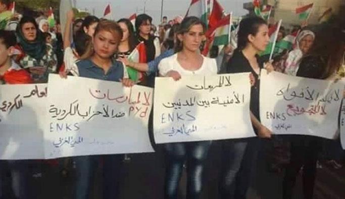 Suriyeli Kürtler bir kez daha PYD'yi protesto etti