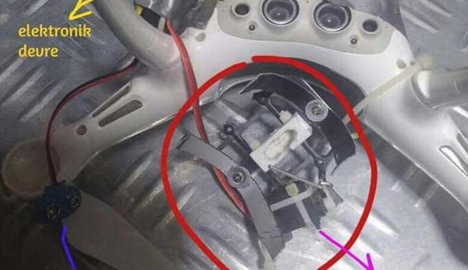 Teröristlerin bomba tuzaklı drone'u düşürüldü