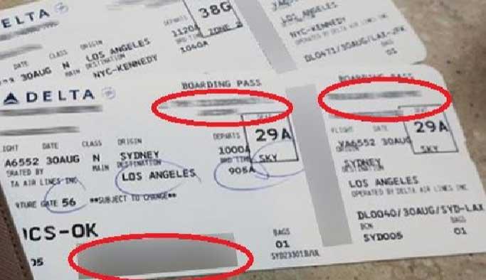Uçak biletinizi sosyal medyadan asla paylaşmayın