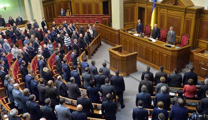 Ukrayna Parlamentosu'nda Rusya'yı kınama kararı