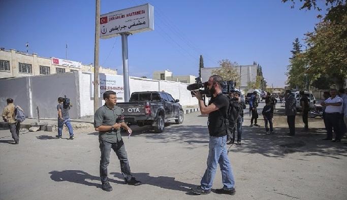 Yabancı gazeteciler Cerablus'ta