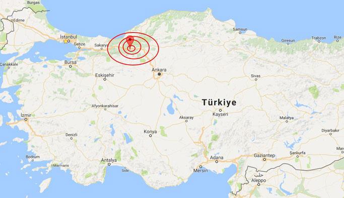 Bolu'da dakikalar içinde 2 ayrı deprem