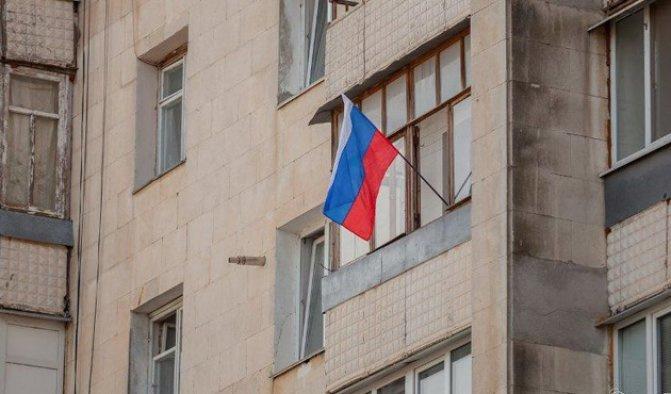 Bulgar evlerinde Rus bayrağı dalgalanıyor