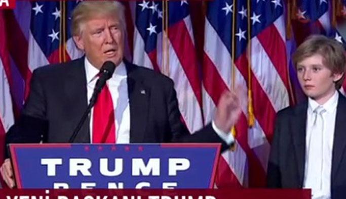 Donald Trump zafer konuşması yaptı