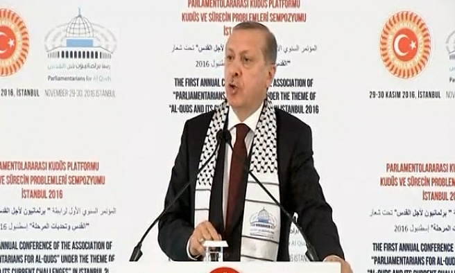 Erdoğan: Filistin'deki ezan tartışmaları çok tehlikeli