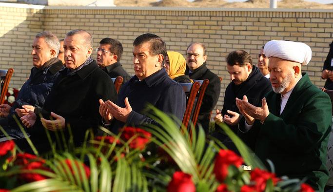 Erdoğan, Özbekistan'daki tarihi medreseleri gezdi